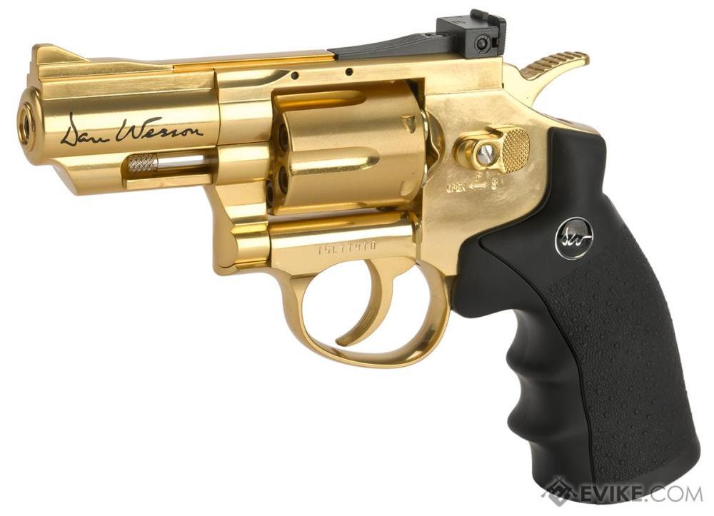 medium resolution of asg dan wesson co2 powered 4 5mm airgun revolver color gold 2 5 snub