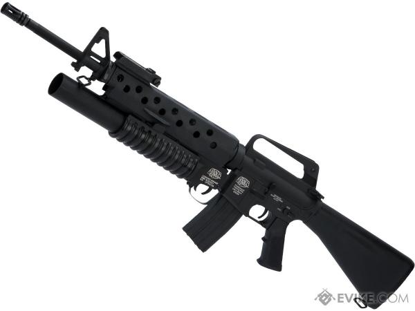 """& """"scar Face"""" M16a1 Vn With M203 Grenade Launcher Airsoft"""