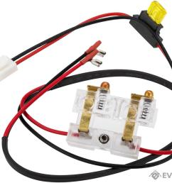 ics wiring harness with fuse for ics l85 l86 series airsoft aeg rifles [ 1200 x 900 Pixel ]