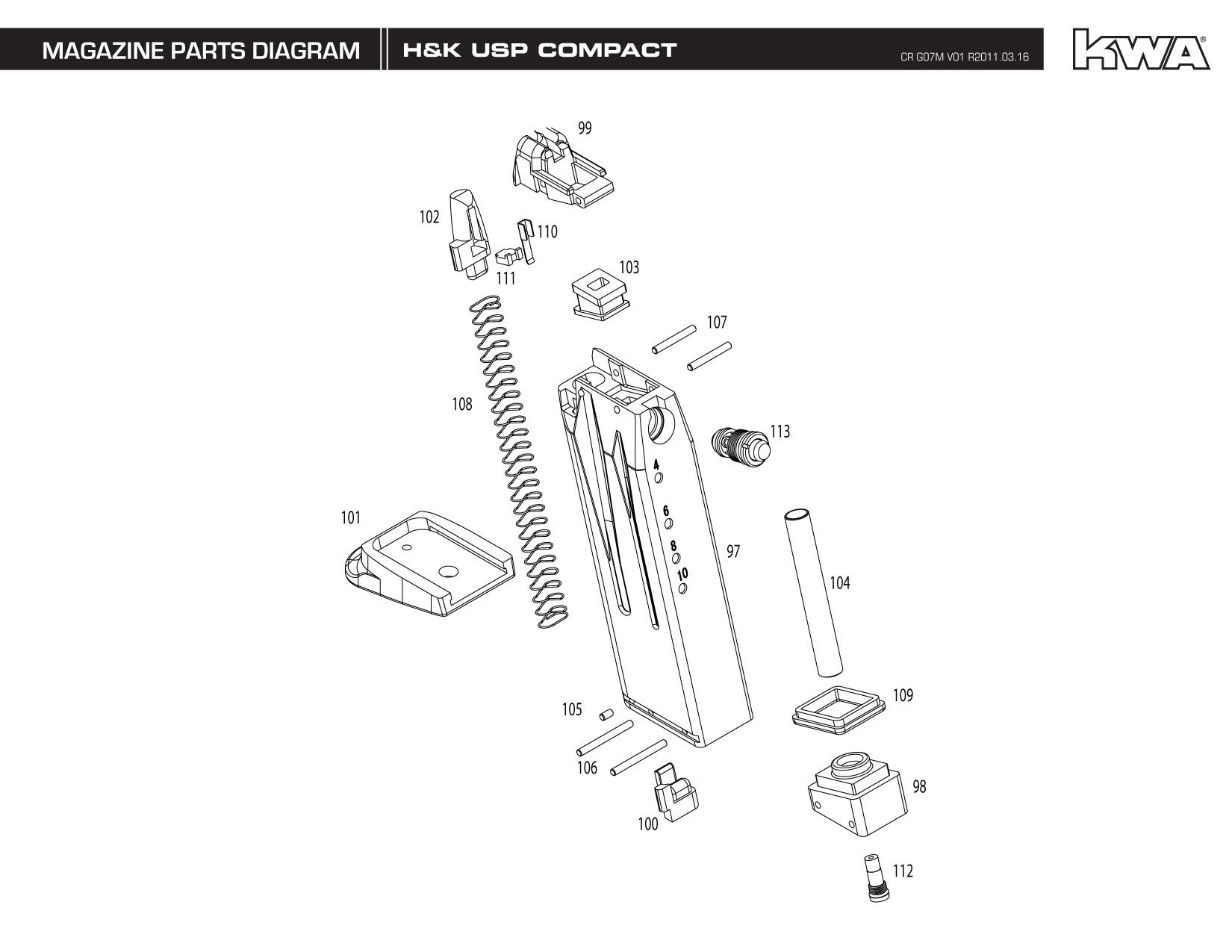 Kj Works Parts Diagram