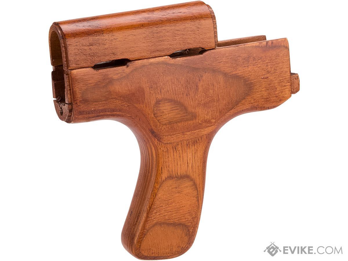 hight resolution of matrix romania type real wood ak handguard w vertical grip kit