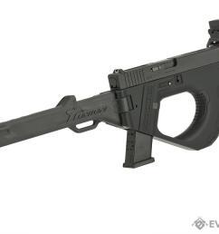 sru 3d printed pdw gas blowback pistol carbine color black  [ 1200 x 878 Pixel ]