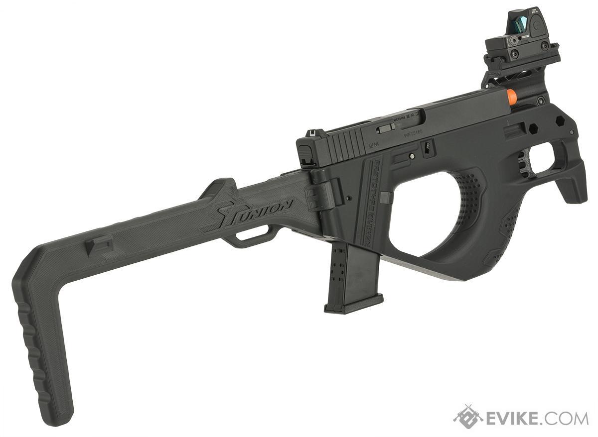 hight resolution of sru 3d printed pdw gas blowback pistol carbine color black