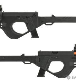 sru 3d printed pdw gas blowback pistol carbine color black  [ 1200 x 900 Pixel ]
