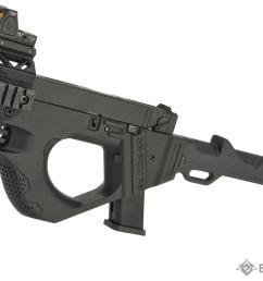 sru 3d printed pdw gas blowback pistol carbine color black  [ 1200 x 828 Pixel ]