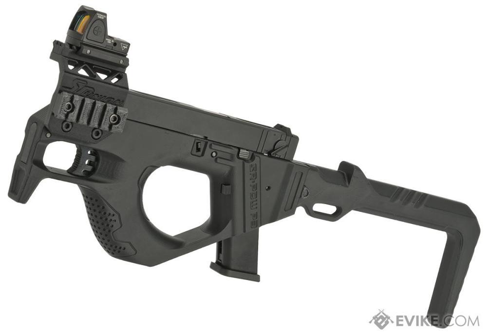 medium resolution of sru 3d printed pdw gas blowback pistol carbine color black