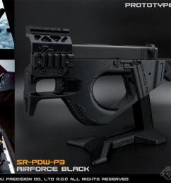 sru 3d printed pdw gas blowback pistol carbine color black airsoft guns gas airsoft pistols we cqb master evike com airsoft superstore [ 1200 x 750 Pixel ]