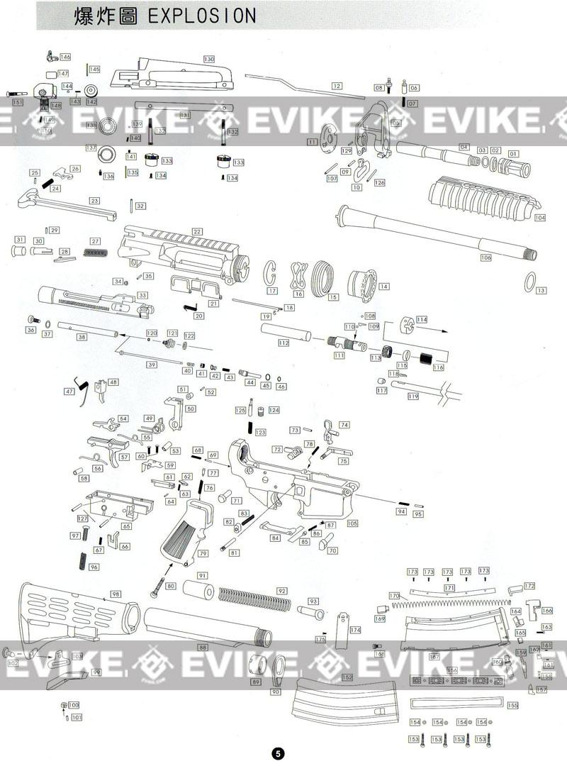 Accessories & Parts, Gas Gun Parts, WE-Tech Parts, WE M4