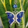 Butterfly Evil Eye Keychain