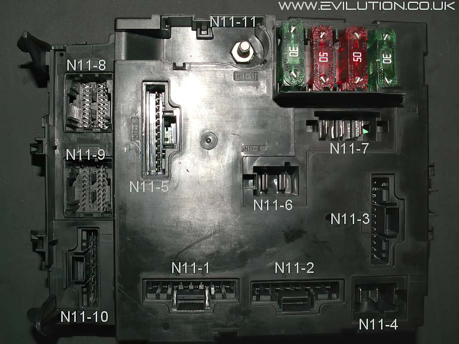 2009 smart car fuse box diagram electron dot for nh3 evilution encyclopaedia most of the wiring goes to there are 10 connections and a positive input all inputs labled each circuit has its own earth point around