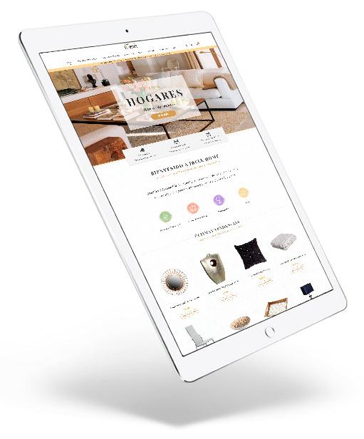 Diseño web de Tienda Online en Écija, Córdoba y Sevilla - ipad