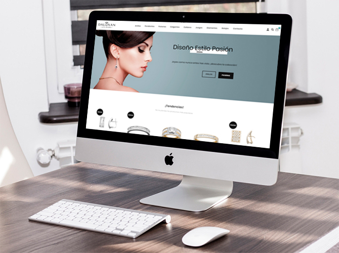 Proyecto Daluxan - Tienda online a medida e imagen corporativa, por Evirom