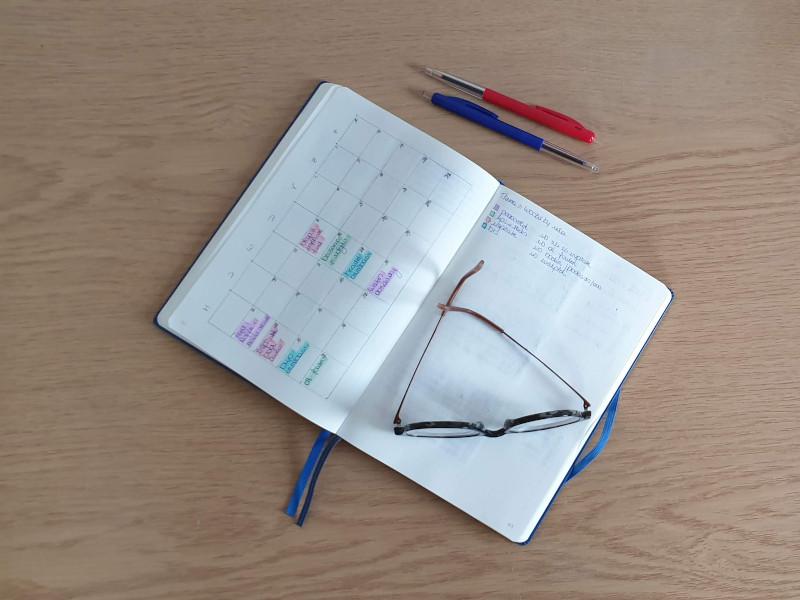 bujo social media planning