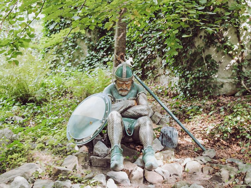 Ridder in het sprookjesbos in de Efteling