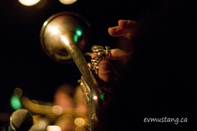 image of trumpet being played