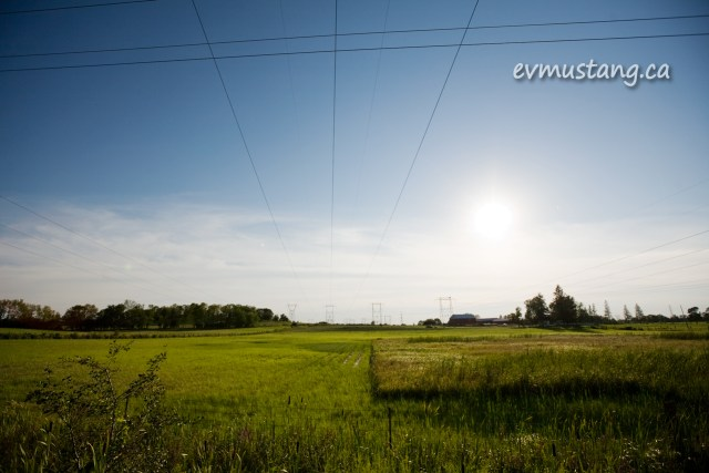 image of farm with power lines