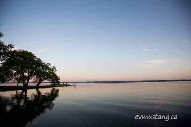 image of Rice Lake at sunset