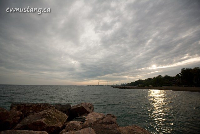 image of toronto under cloudy skies