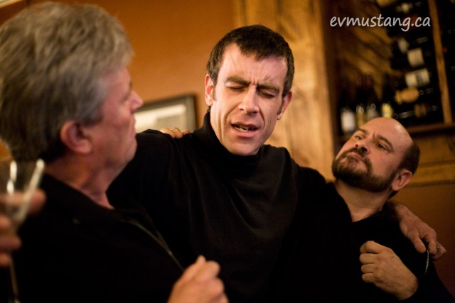 image of Rob Fortin, Dan Kirkaldy and Brad Brackenridge in Othello (excerpt) at Mysterious Festivus