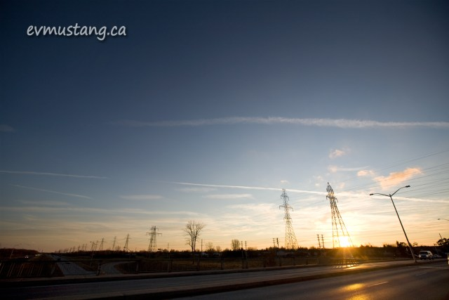 image of hydro lines and a tree next to Commissioners Road in London, Ontario