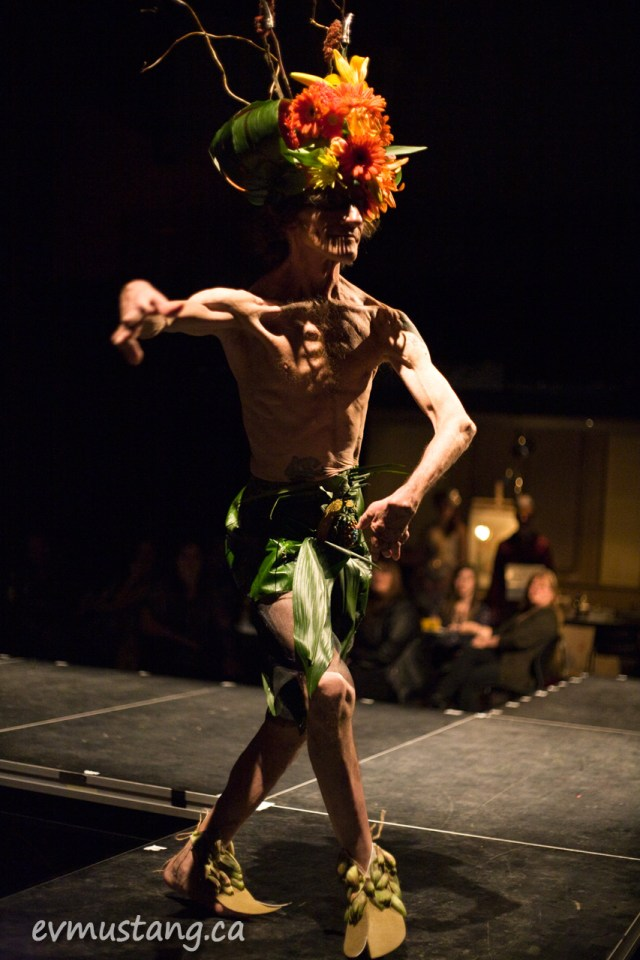 image of Max Price wearing a design by Mel McCall using materials from Pammett's Flowers