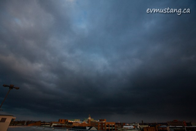 image of dark winter cloud over peterborough