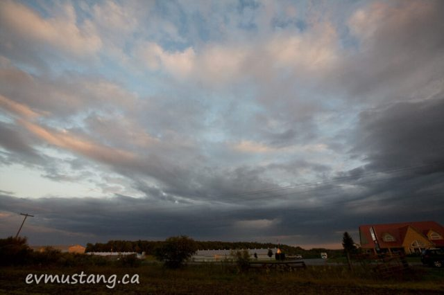 image of sunset in september over keene, ontario