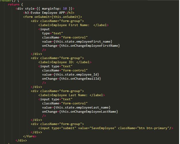 ReactJS Framework Database