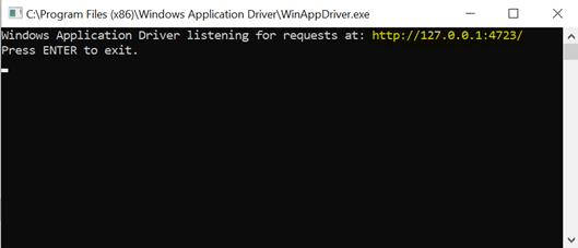 Integration of WinAppDriver