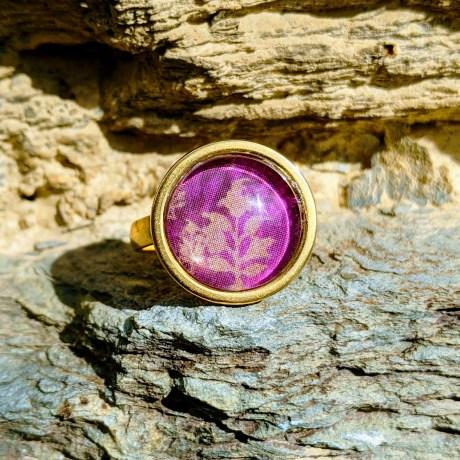 bague dorée tendre fushia evol bijoux (1)