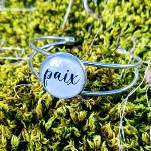 bracelet acier paix evol bijoux