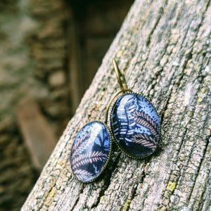 les dormeuses ovales feuilles evolbijoux