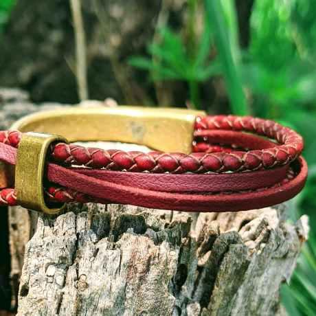 bracelet demi jonc bronze fruit du cerisier bordeaux evolbijoux (1)