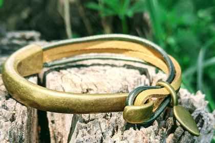 bracelet demi jonc bronze fruit du cerisier kaki or evolbijoux (2)