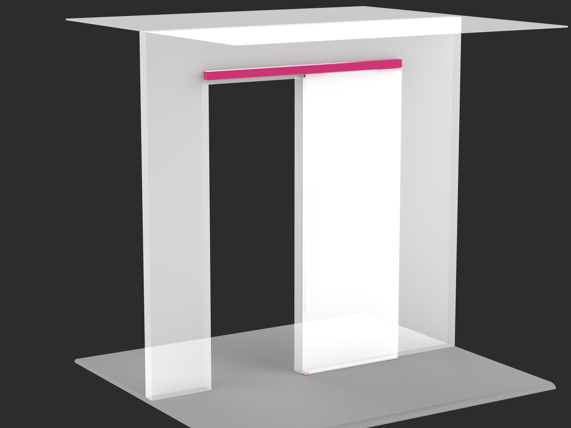 Porta scorrevole con binario a parete  Evoline3