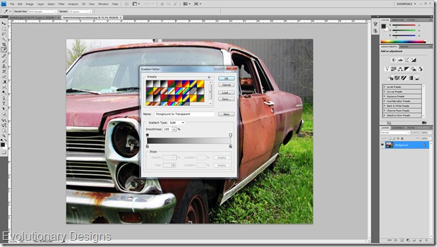 how to add background into photoshop