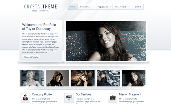 Crystal Theme – Studiopress Theme