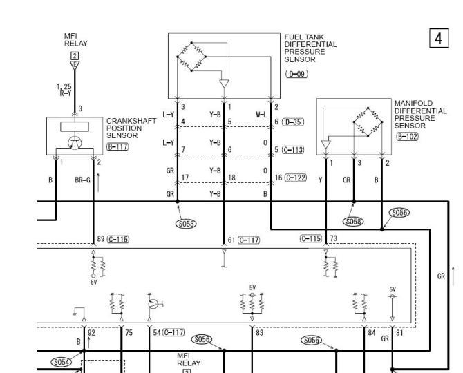 need diagram of stock map sensor pigtail  evolutionm