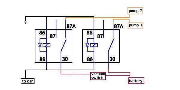 Second Starter Relay Wiring Diagram Dual Fuel Pump Wiring Question Evolutionm Mitsubishi