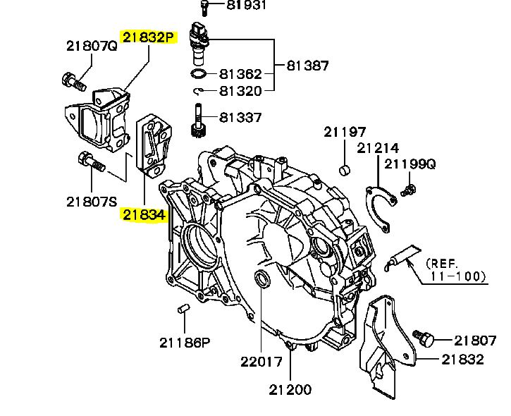 Mitsubishi Part Diagram
