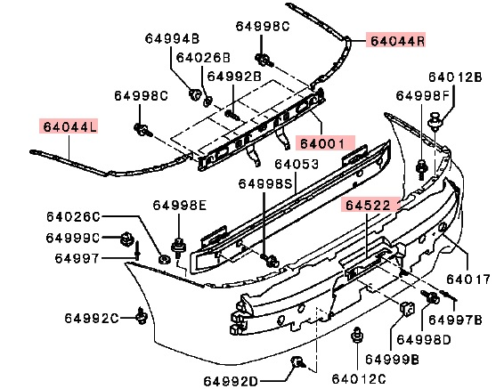JDM rear bumper reinforcement/plate bracket