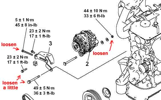 2002 Mitsubishi Lancer Es Belt Replacement Diagram