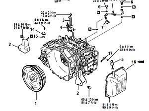 2003 Mitsubishi Lancer A/T Fluid Pan Torque Specs