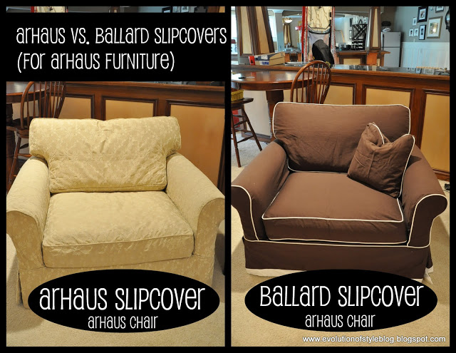 Ballard Design Outlet West Chester slipcovers: arhaus vs. ballard - evolution of style