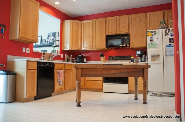 Oak Kitchen Reveal: From Builder Grade to Custom Made - Evolution of on kitchen cabinet refinishing ideas, kitchen cabinet update ideas, oak kitchen cabinets before and after,