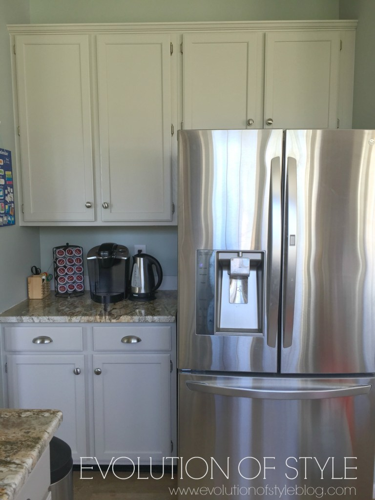 Revere pewter kitchen cabinets
