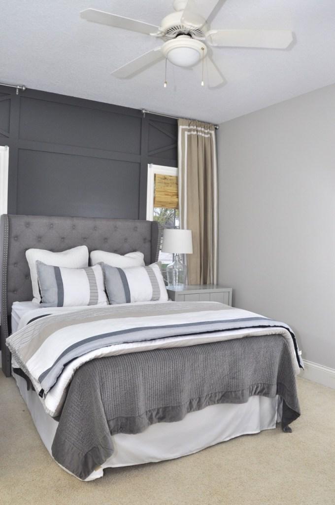 Masculine Gray Bedroom
