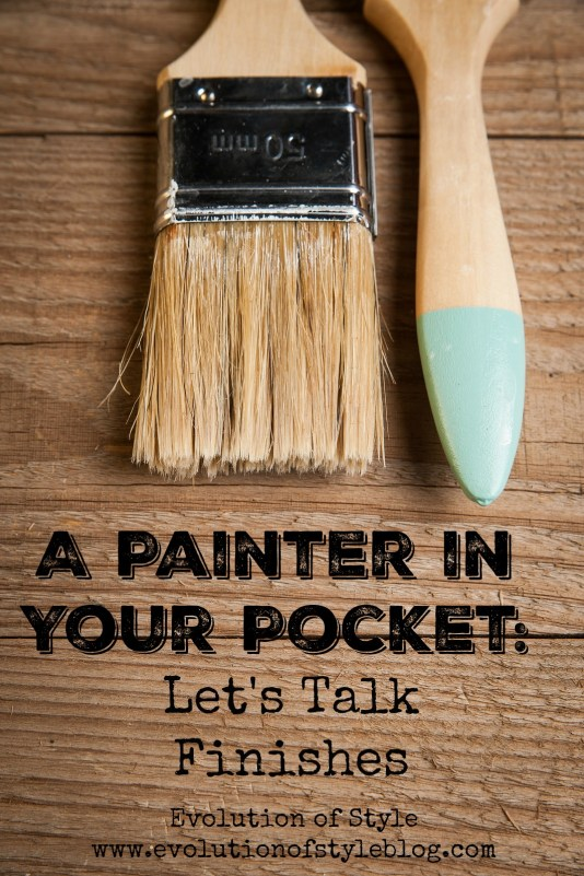 Painter in Your Pocket: Finishes