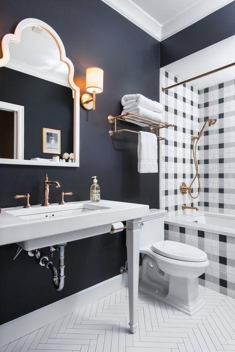 Navy bathroom