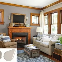 Living Room Paint Colors With Oak Trim Curtain Ideas For Color Stained Woodwork Gray Walls